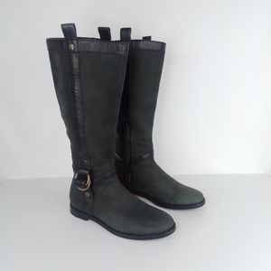 Cole Haan 6 Liberty Riding Boots Nubuck Leather